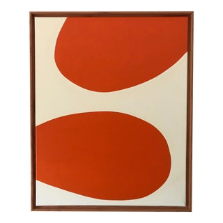 "Original Modern Painting by Tony Curry ""Hermes Orange"" For Sale"