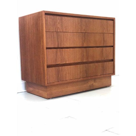 1970s Vintage Danish Teak Dresser For Sale - Image 5 of 5
