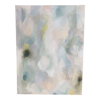 Signed Abstract Oil and Acrylic Painting on Canvas by Christina Javanmardi For Sale