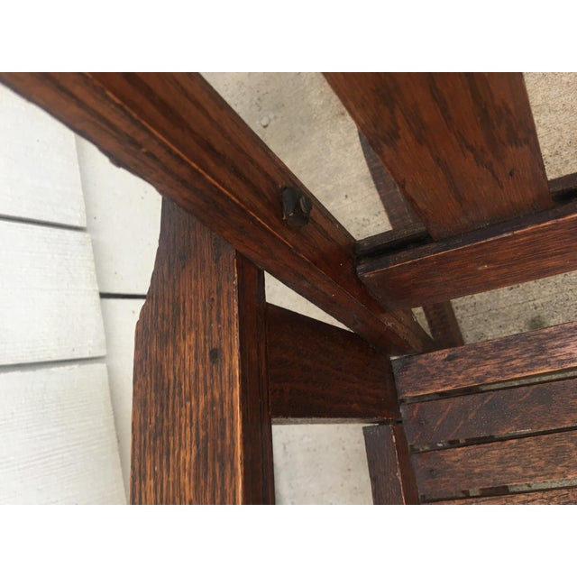 Antique Stickley Style Mission Oak Child's Rocking Chair For Sale In Kansas City - Image 6 of 13