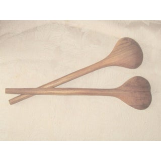 1960s Danish Modern Teak Salad Fork and Spoon - a Pair Preview