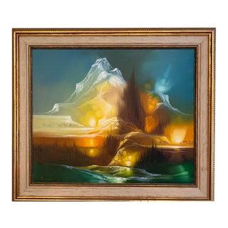 1960s Vintage Modern M. Charles Rhinehart Painting For Sale