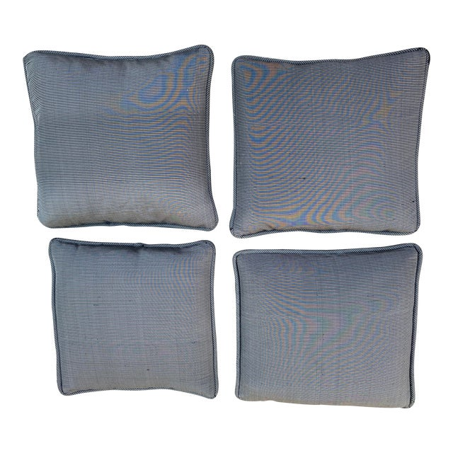 Custom Made Robert Allen Fabric Decorative Pillows - Set of 4 For Sale