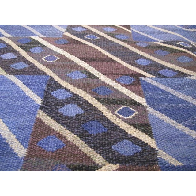 Blue Marta Maas-Fjetterstrom Flatwoven Carpet For Sale - Image 8 of 10