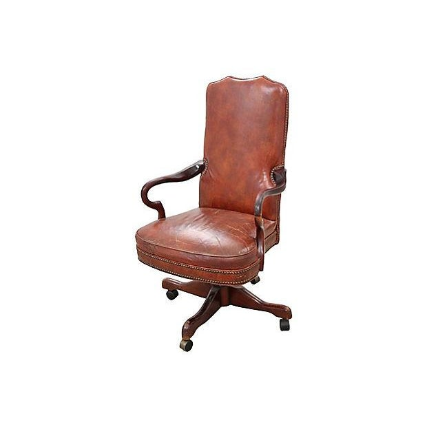 Leather Office Chair - Image 2 of 7