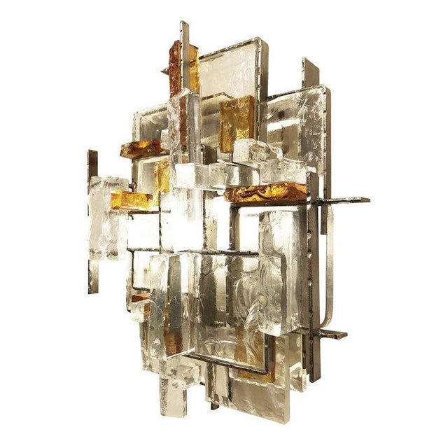 Brutalist Poliarte Brutalist Wall Lights by Poliarte - a Pair For Sale - Image 3 of 9