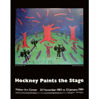 David Hockney-Ravel's Garden with Night Glow-1983 Poster For Sale