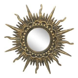 French Golden Gilt Sunburst Mirror For Sale