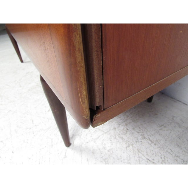 Brown Compact Scandinavian Modern Teak Cabinet For Sale - Image 8 of 13