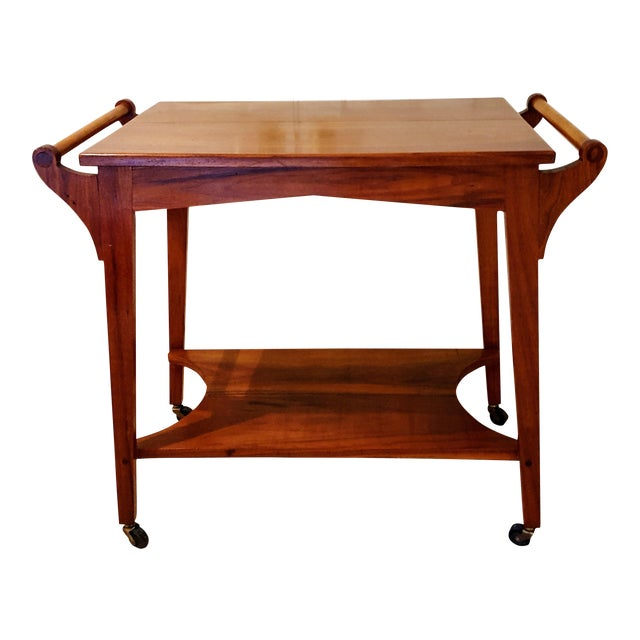 Mid-Century Teak Serving Cart - Image 1 of 6