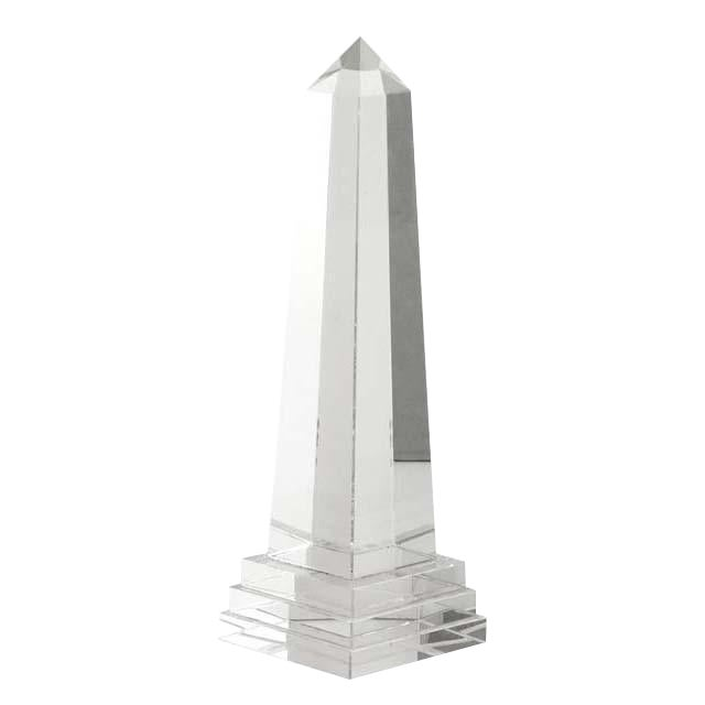 Cantabria Glass Obelisk, Medium For Sale