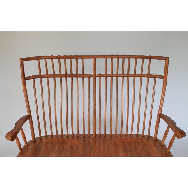 High Back Solid Oak Bench - Image 7 of 11