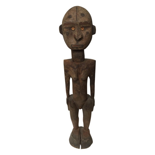 Sepik River Papua New Guinea Wooden Female Figure For Sale In New York - Image 6 of 6