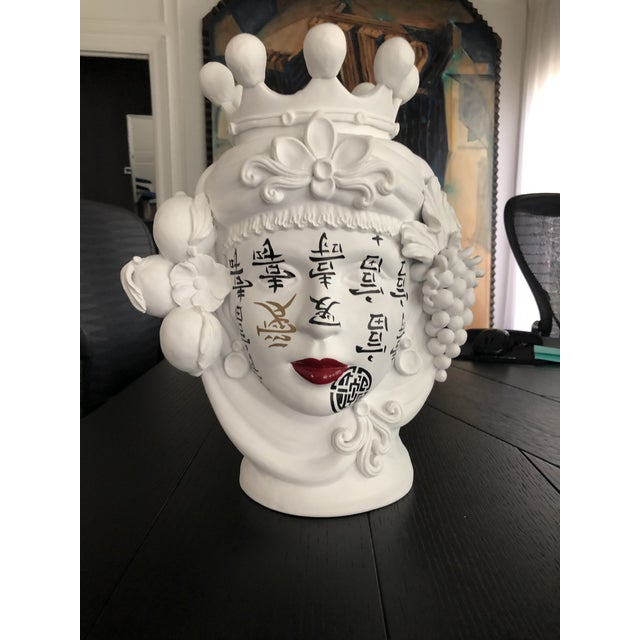 Contemporary Ceramic Vase by Artist Stefanie Boemhi For Sale In Houston - Image 6 of 11