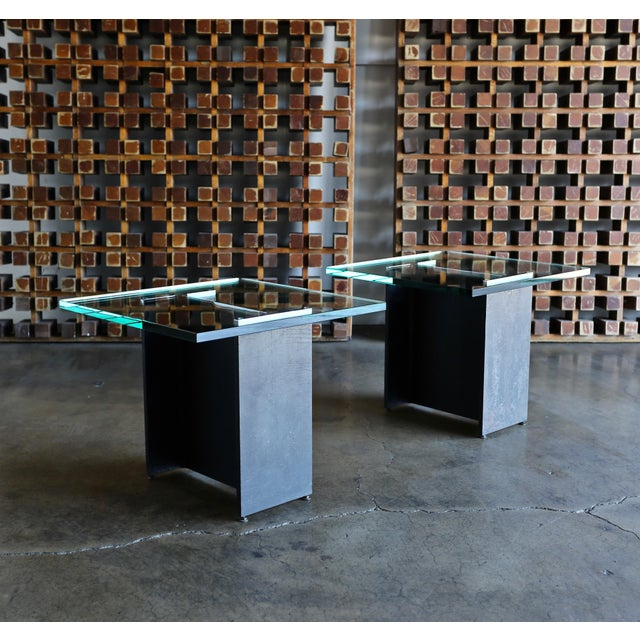 Mid 20th Century Gerald McCabe I Beam Side Tables Circa 1965 - a Pair For Sale - Image 5 of 13