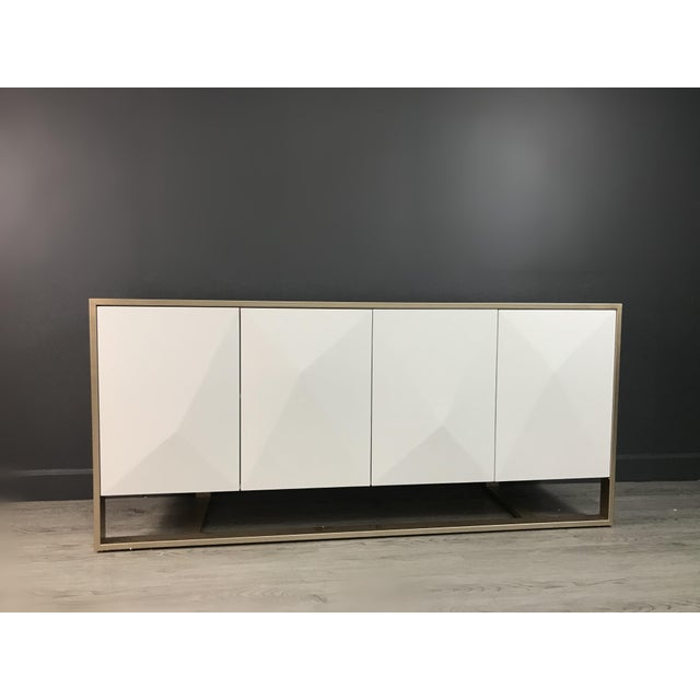 2020s Cleo Spike Wood Cabinet in White For Sale - Image 5 of 8