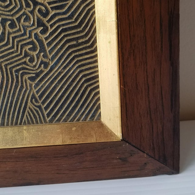 1960s Abstract Relief with Gold Leaf, Framed For Sale In Seattle - Image 6 of 9