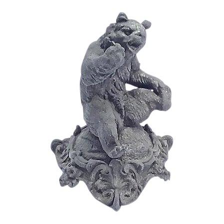 Antique Cast Iron Bear Figurine For Sale