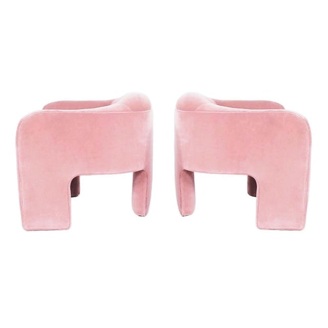 Mid-Century Modern Modern Preview Furniture Co. Three-Legged Sculptural Armchairs - A Pair For Sale - Image 3 of 5