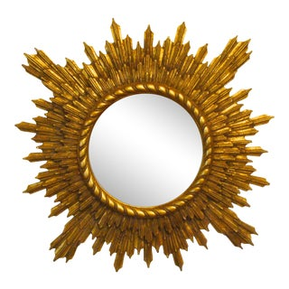 Giltwood Sunburst Mirror Friedman Brothers For Sale
