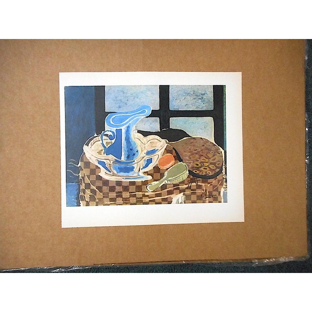 This mid 20th century lithograph (offset) depicts one of Georges Braque's iconic images. Braque (1882-1963) was one of...