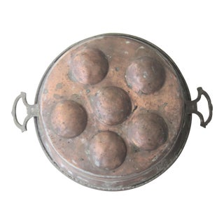 Antique French Moroccan Copper Escargot Pan For Sale
