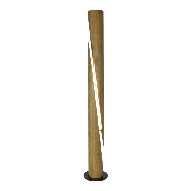 Shear - Minimalist Wooden Column Led Lamp For Sale