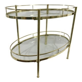 Solid Brass MCM Side Table For Sale