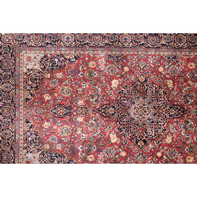 "Islamic Traditional Pasargad N Y Persian Kashan Design Rug - 5'1"" X 8'7"" For Sale - Image 3 of 5"