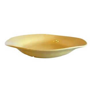 Oversized Yellow Ceramic Platter From Portugal For Sale
