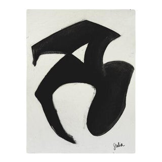 Contemporary Abstract Charcoal Drawing by Julia Knight For Sale