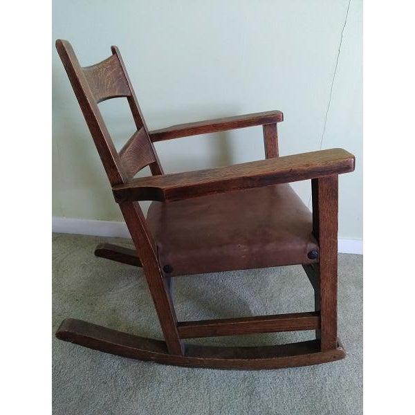 Arts & Crafts Limbert Limbert #8074 Rocking Chair For Sale - Image 3 of 9