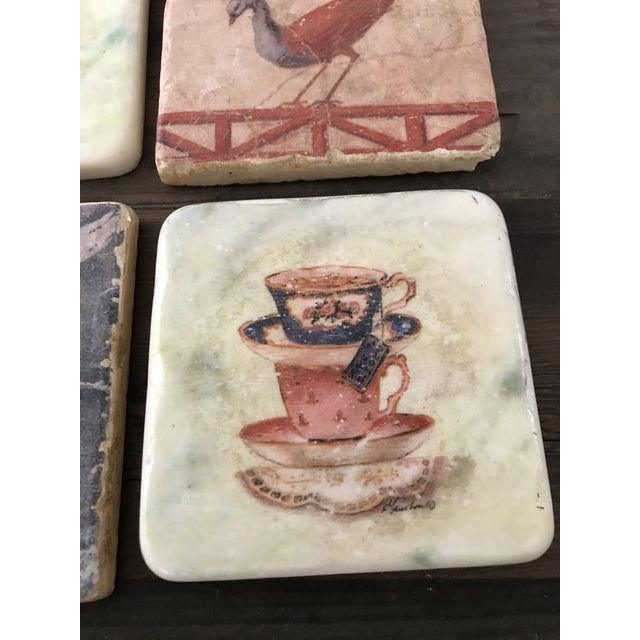 Pictorial Ceramic Coasters - Set of 4 - Image 6 of 6