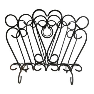 French Wrought Iron Magazine Rack For Sale