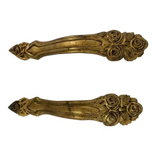 Napoleon III Bronze Dorè Drapery Holders a Pair For Sale