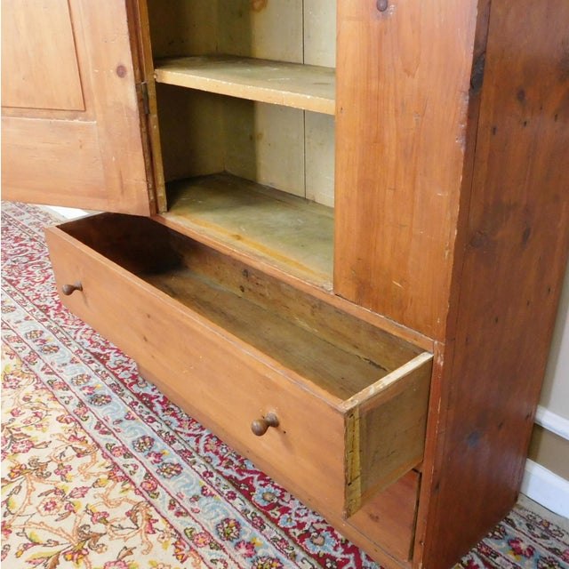 Antique 19th-Century American Pine Cabinet - Image 8 of 11