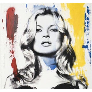 Kate Moss screen print by Mr. Brainwash