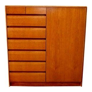 1960s Danish Modern Nordisk Andels-Eksport Teak Chest/Dresser For Sale