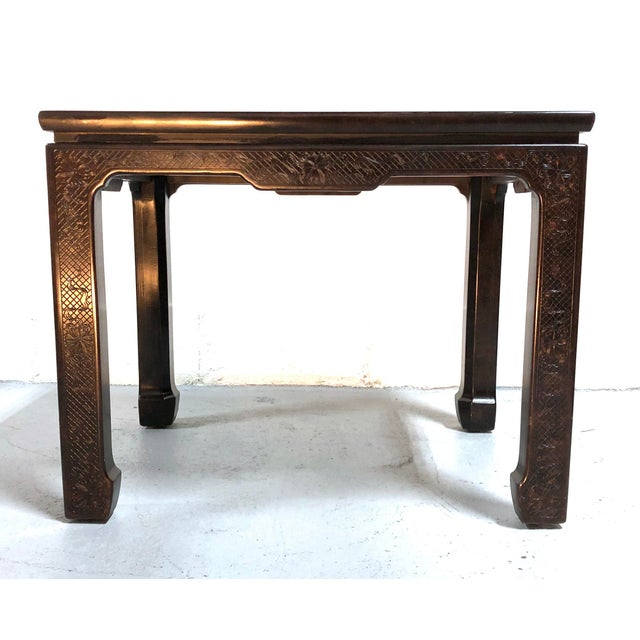 Paint Mario Buatta for John Widdicomb Chinoiserie Coffee Table For Sale - Image 7 of 13