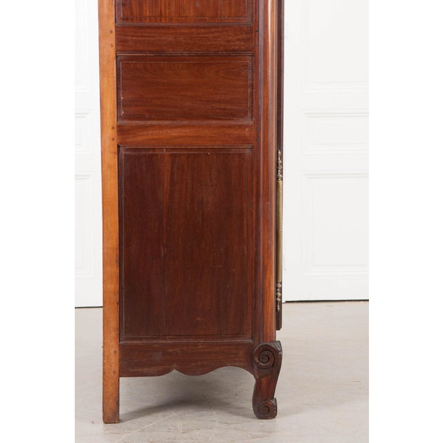 Metal 18th Century French Mahogany Armoire from the Port of Normandy For Sale - Image 7 of 13