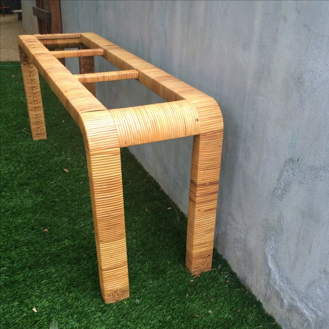 Rattan Console Table - Image 6 of 9