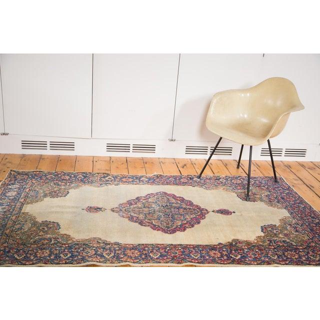 """Vintage Distressed Kerman Rug - 3'10"""" X 7'1"""" - Image 4 of 10"""