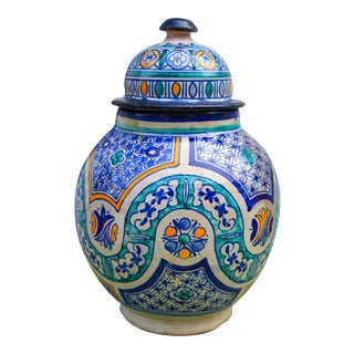 Moorish Ceramic Urn For Sale