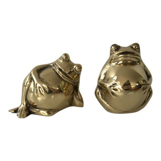 Solid Brass Toads - A Pair