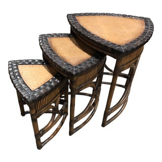 Tommy Bahama Style Nesting Tables - Set of 3
