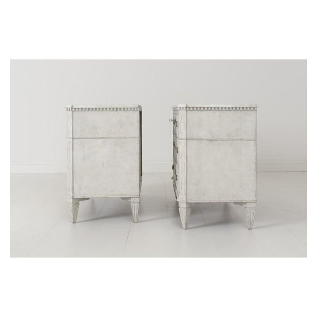 19th Century Swedish Gustavian Bedside Commodes - a Pair For Sale - Image 10 of 11