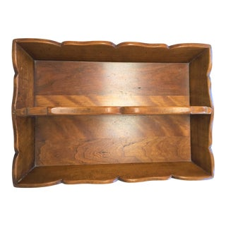 1950s Traditional Stickley Wooden Cutlery Tray For Sale