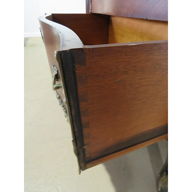 Mid 20th Century Regency Stye Bronze Mounted High Chest For Sale - Image 5 of 10
