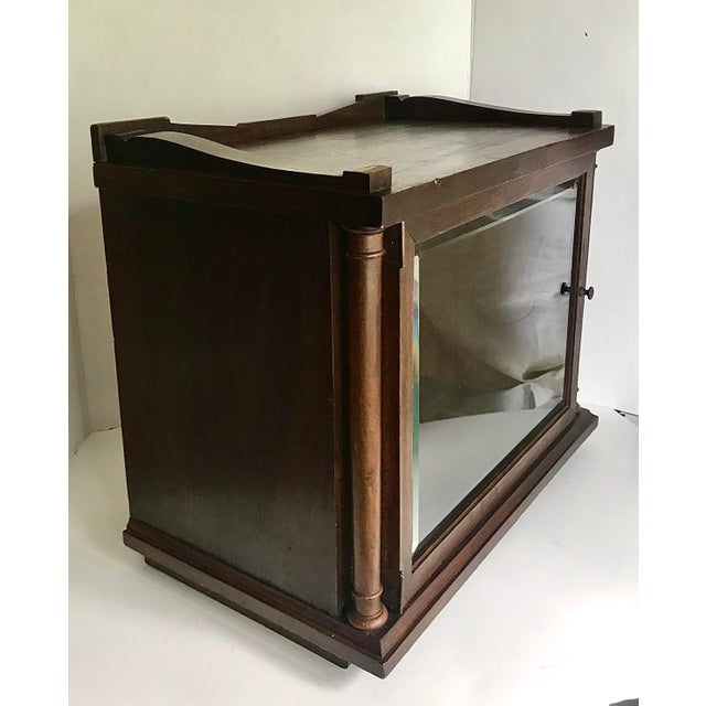 Wood Antique Wood and Glass Display Cabinet For Sale - Image 7 of 10
