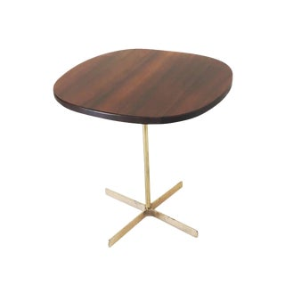 1950s Allan Gould Side Table With Brass Base For Sale